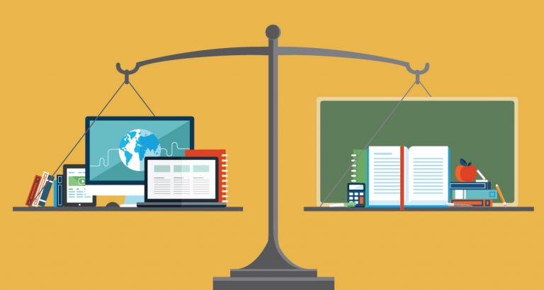online learning versus traditional learning