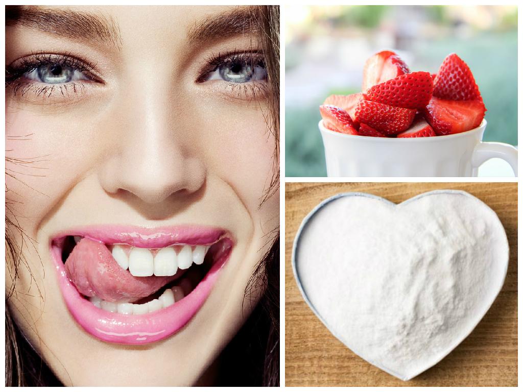 çilek ile diş beyazlatma