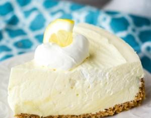 limonlu pişmemiş cheesecake
