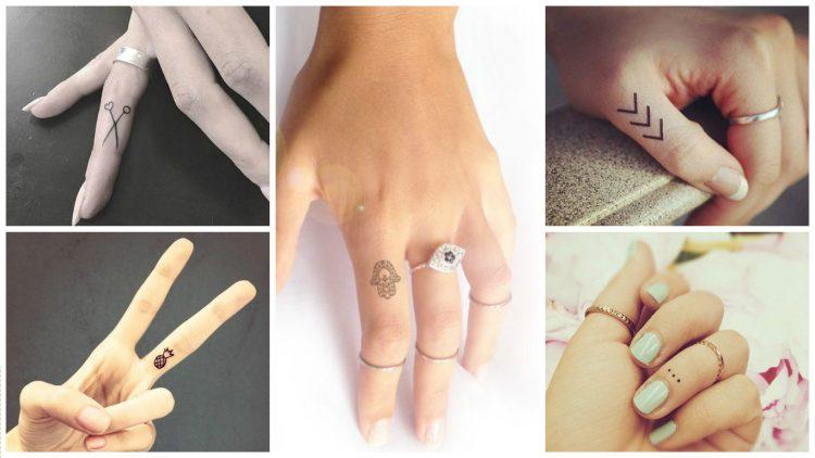 parmak için minimalist dövmeler